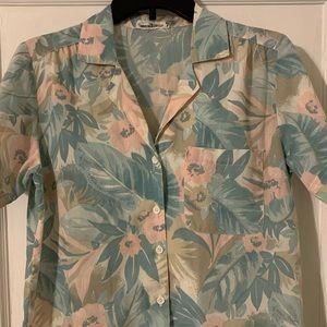 Vintage Alfred Dunner Camp Collar Hawaiian Sz S/M